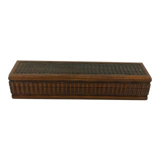 Hand Carved Wooden Trinket Box
