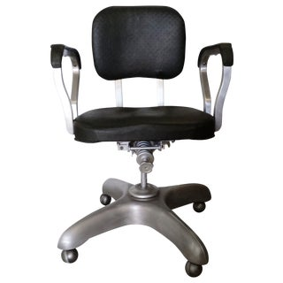 Vintage Mid-Century Modern Swivel Office Chair