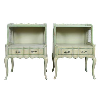 Dixie Furniture French Provincial Nightstands - A Pair