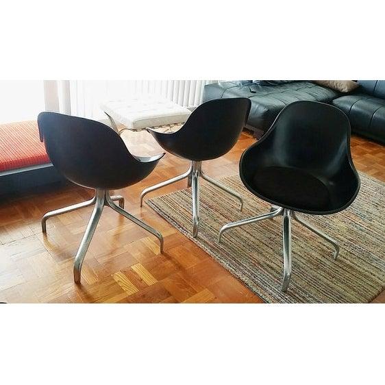 Mid-Century Modern Swivel Chairs - Set of 3 - Image 3 of 6