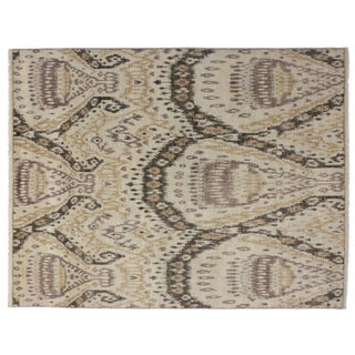 Contemporary Abstract Ikat Area Rug - 7′9″ × 10'