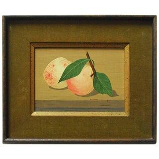 "Mid-Century Still Life ""Two Peaches"" by K.Howard"