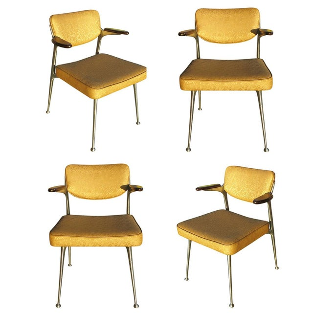 Aluminum Gazelle Armchairs by Shelby Williams -S/4 - Image 1 of 10