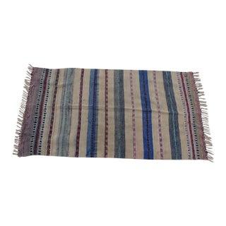 Swedish Hand Woven Rag Rug - 3′6″ × 6′7″