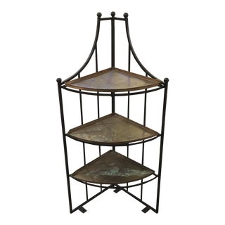 Steel Corner Stand & 3 Copper Trays