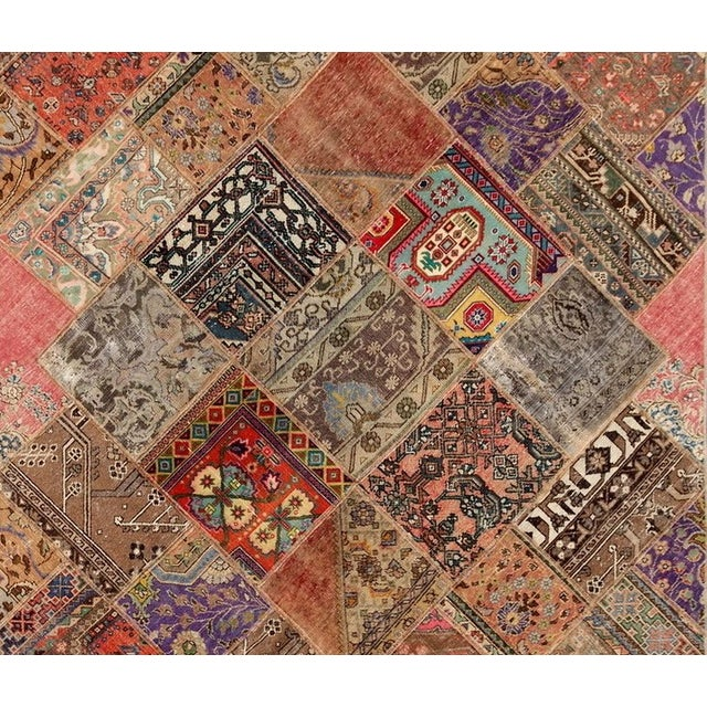Hand-Knotted Patchwork Rug - 6'2'' X 9'3'' - Image 2 of 2