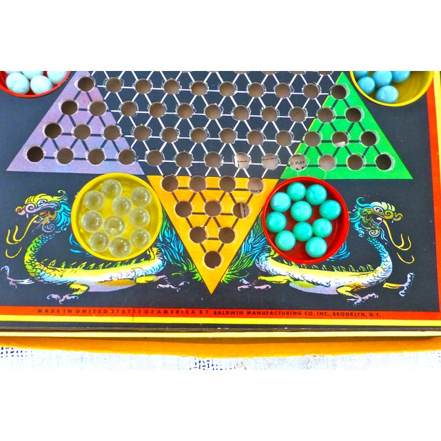 Vintage Man-Da-Rin Chinese Checkers Game, Complete - Image 4 of 7