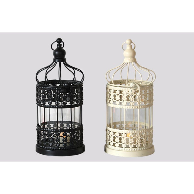 Metal Cage Lanterns - Set of 2 - Image 2 of 5