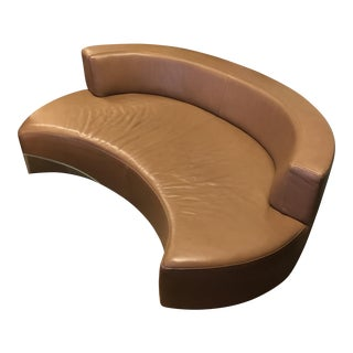 American Leather Brown Crescent Sofa