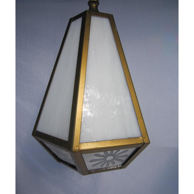 Mid Century Pendant Lights - Pair - Image 3 of 6