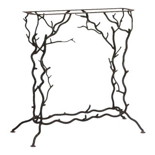 French Forged Metal Console Base