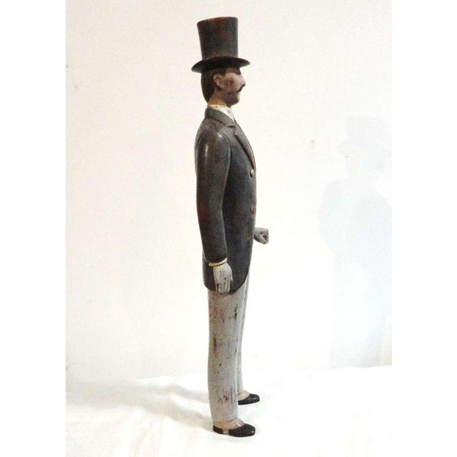 Early 20thc Hand Carved & Painted I.W.Harper Whiskey Man - Image 5 of 10