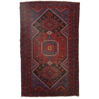 Persian Baktiari Wool Rug - 4′1″ × 6′6″