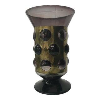 Felipe Derflinger Violet Caged Glass Vase
