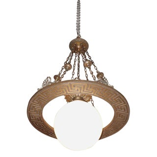 Turn of the Century Bronze Bank Pendant Light