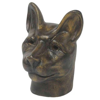 Sarried Ltd Cast Iron Cat Busts- A Pair