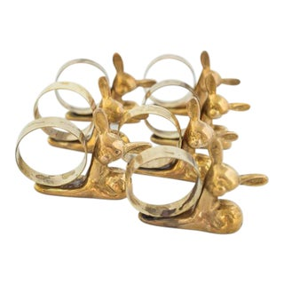 Brass Fawn Napkin Rings - Set of 7