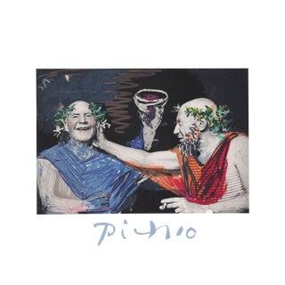 """Pablo Picasso """"Photo Rehasse De Picasso Et Manuel Pallares"""" Lithograph"""