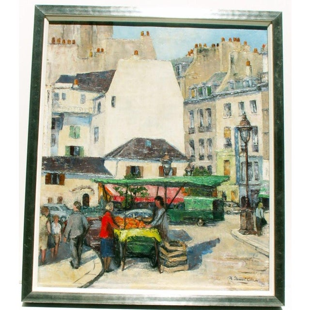 Image of Paris Street Market, Oil Painting