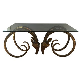 Ibex Rams Head Table, Mid-Century Design