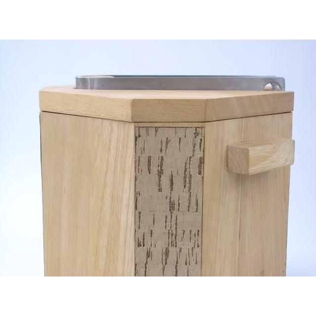 Georges Briard Wood & Cork Ice Bucket - Image 4 of 9