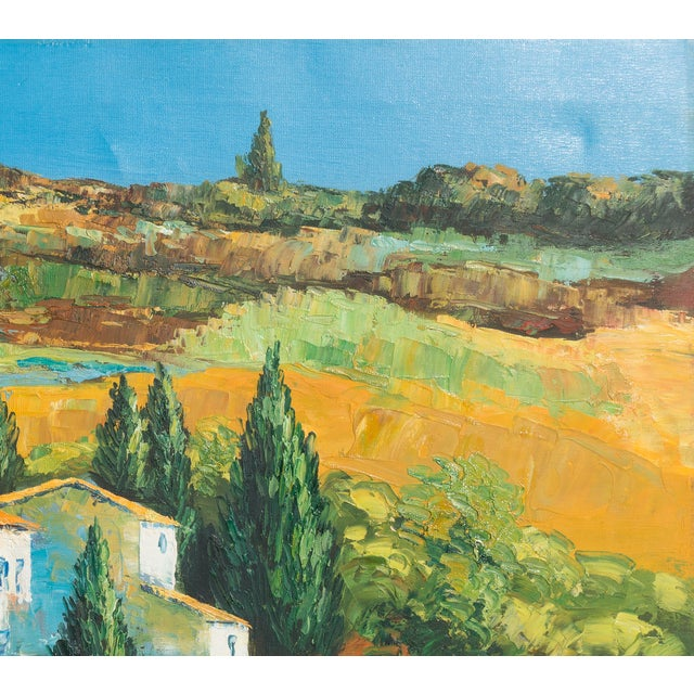 M. Vanly Tuscan Summer Landscape Oil Painting - Image 3 of 6