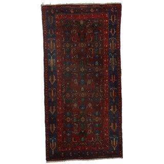 Hand-Knotted Wool Persian Hamedan - 3′4″ × 6′8″