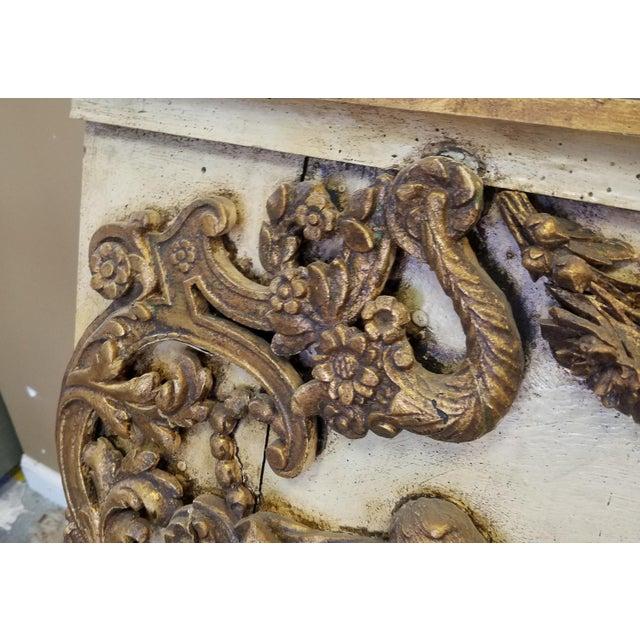 Antique Italian 19th Century Carved Wood Gilded Cherub Putti Panel - Image 8 of 11
