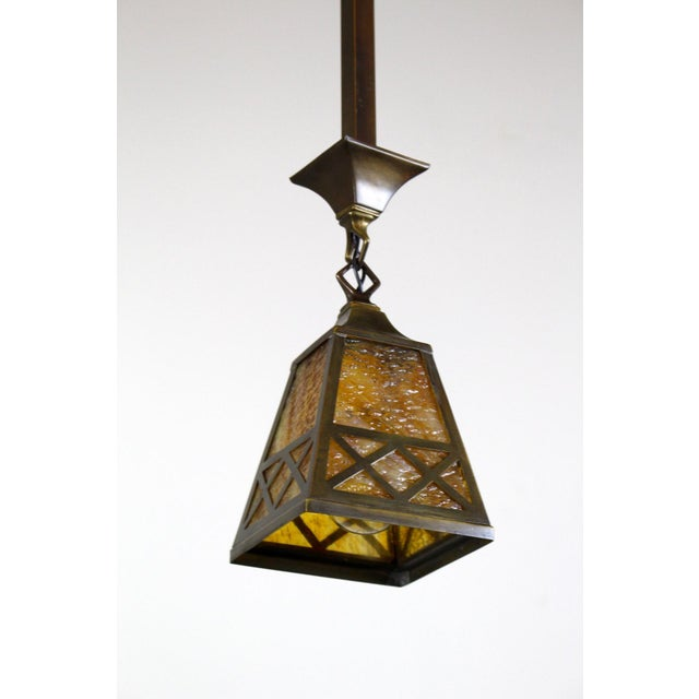 Arts & Crafts Style Pendant Fixture. - Image 7 of 7