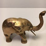 Image of Vintage Brass Elephants - A Pair