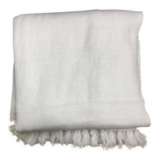 White Tassel Cashmere Blend Blanket
