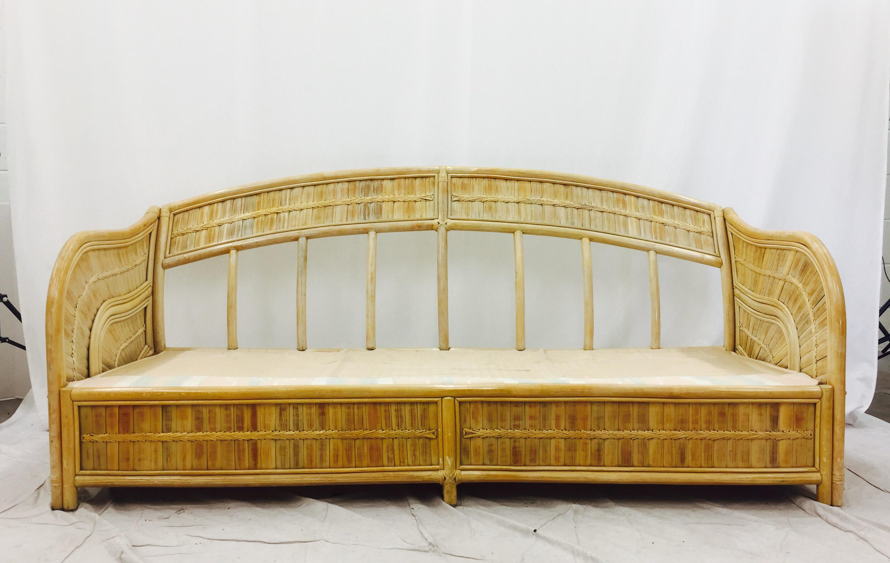 Vintage Rattan Sofa Viyet Designer Furniture Seating