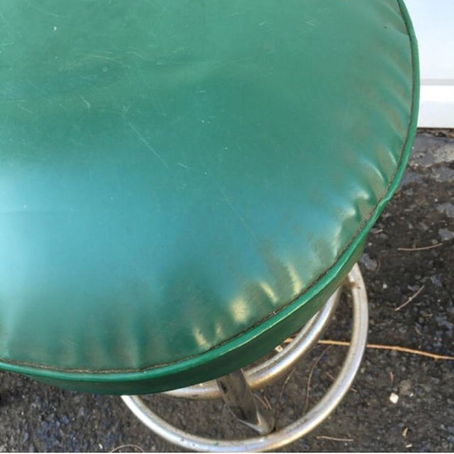 Vintage Retro Green Diner Stool - Image 3 of 4