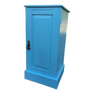 Mahogany Storage Cabinet With Designer Blue Finish