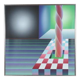 "Stefan Knapp ""Abstract Spiral "" Original Painting"