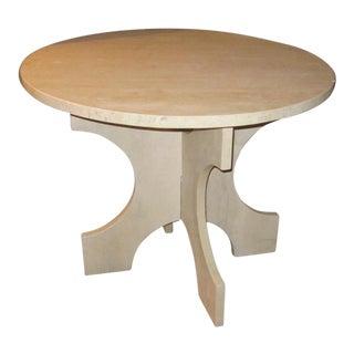 Italian Travertine Round Side Table, Contemporary
