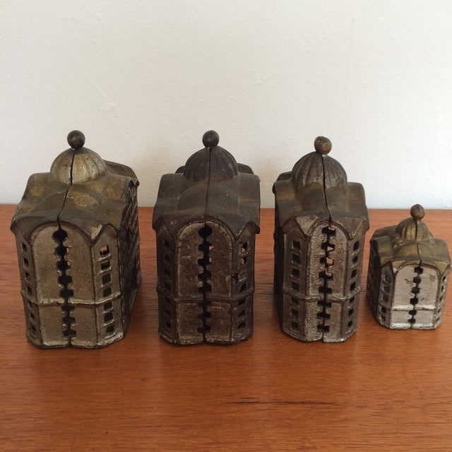 Image of Antique Cast Iron Banks - Set of 4