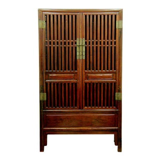Antique Chinese Comb-Style Bookcase Cupboard