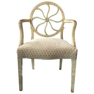 Vintage Neoclassical Painted Armchair
