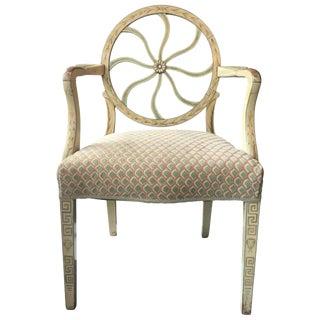 Vintage Neoclassical Painted Armchair