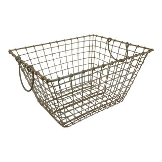 1950s French Wire Oyster Basket