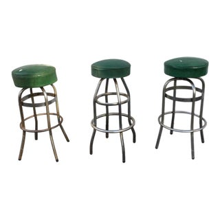 Vintage Retro Green Diner Stool