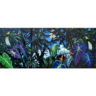 """""""The Night Watch"""" Acrylic & Oil Triptych Painting - Set of 3"""