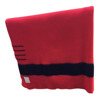 Hudson Bay Vintage Red Blanket