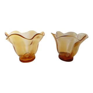 Vintage Italian Glass Vases - Pair