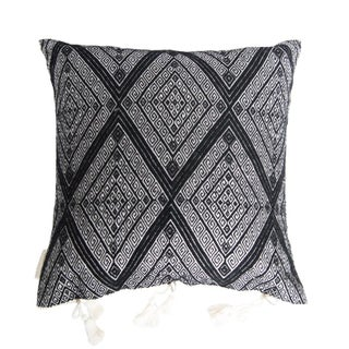 Mexican Black Brocaded Pillow