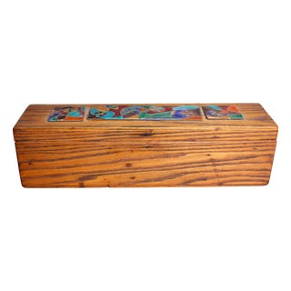 Late 1940s Elizabeth Bensley Wooden Box