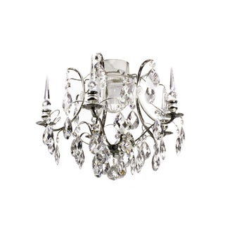 Bathroom Chandelier - Vintage Chrome & Crystal