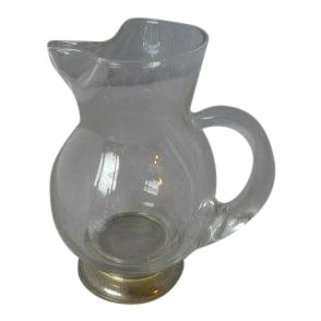 Vintage Sterling and Clear Glass Pitcher