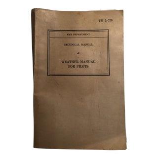 1940 War Department Weather Manual for Pilots